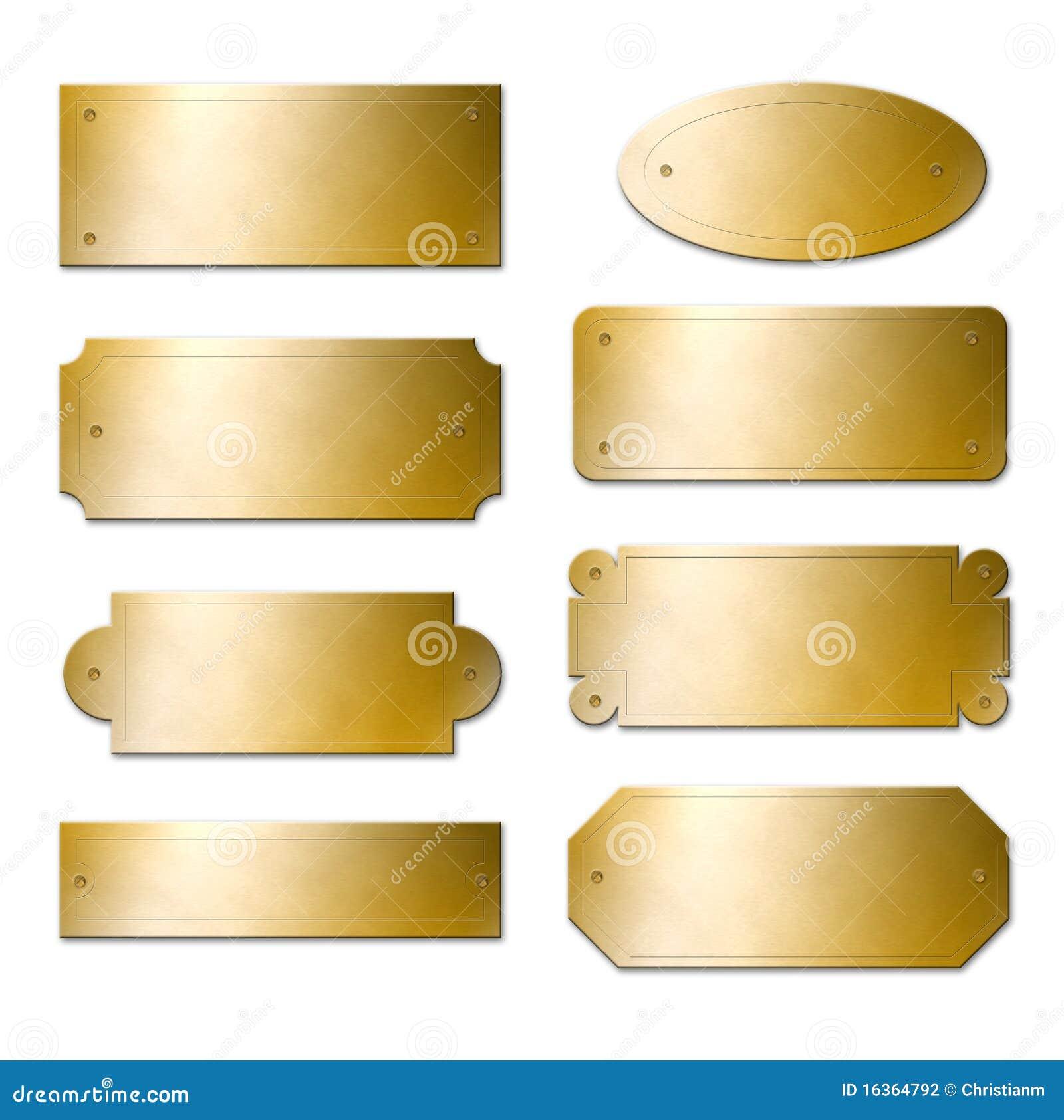 Plaques en laiton photographie stock image 16364792 - Plaque de laiton ...