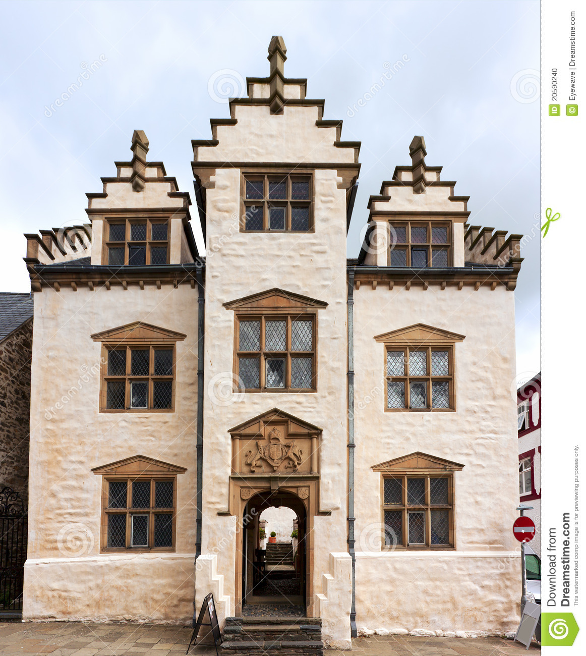 Plas Mawr, Conwy Stock Photo. Image Of House, British