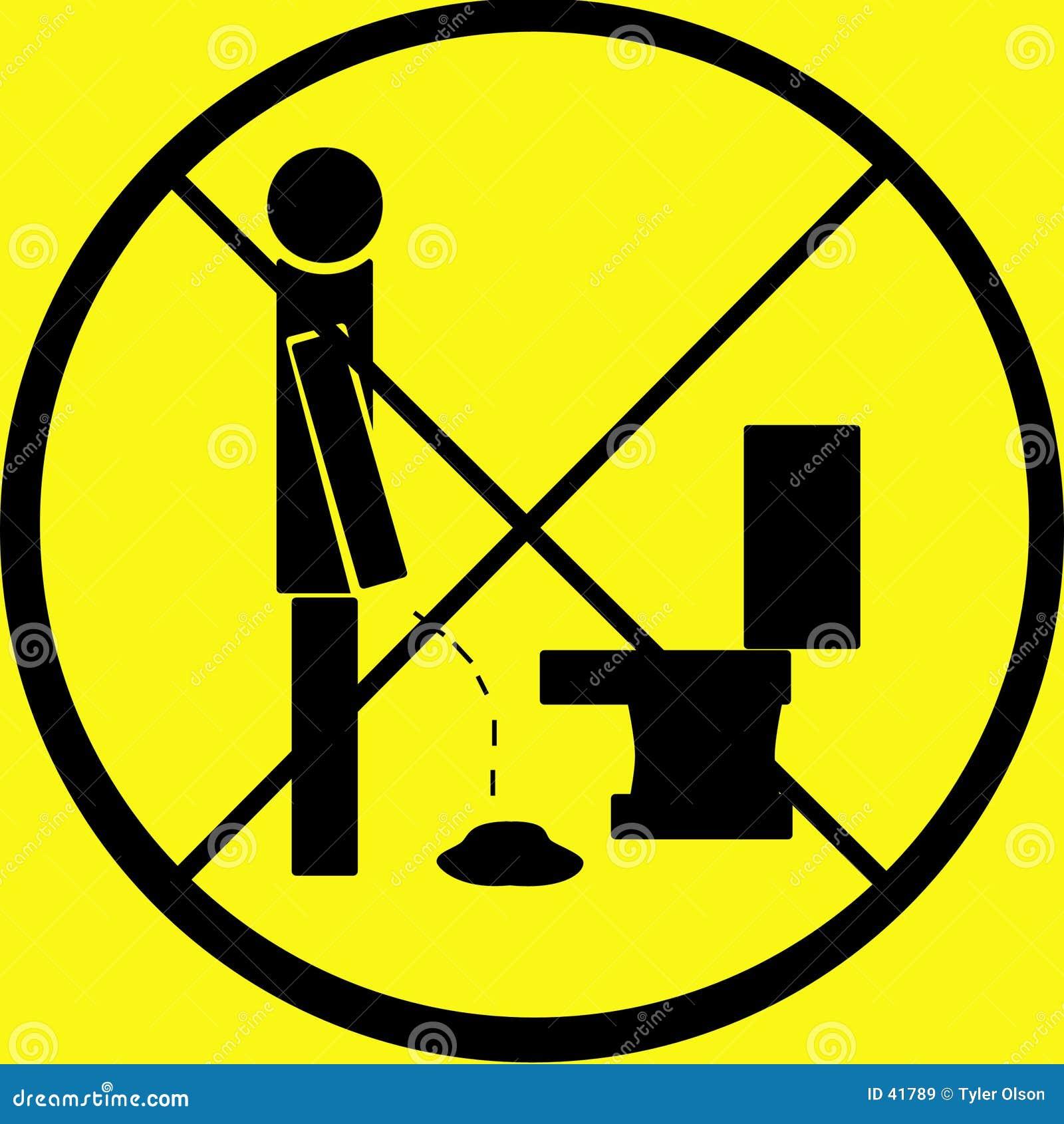 Plas niet op het Waarschuwingssein van de Vloer