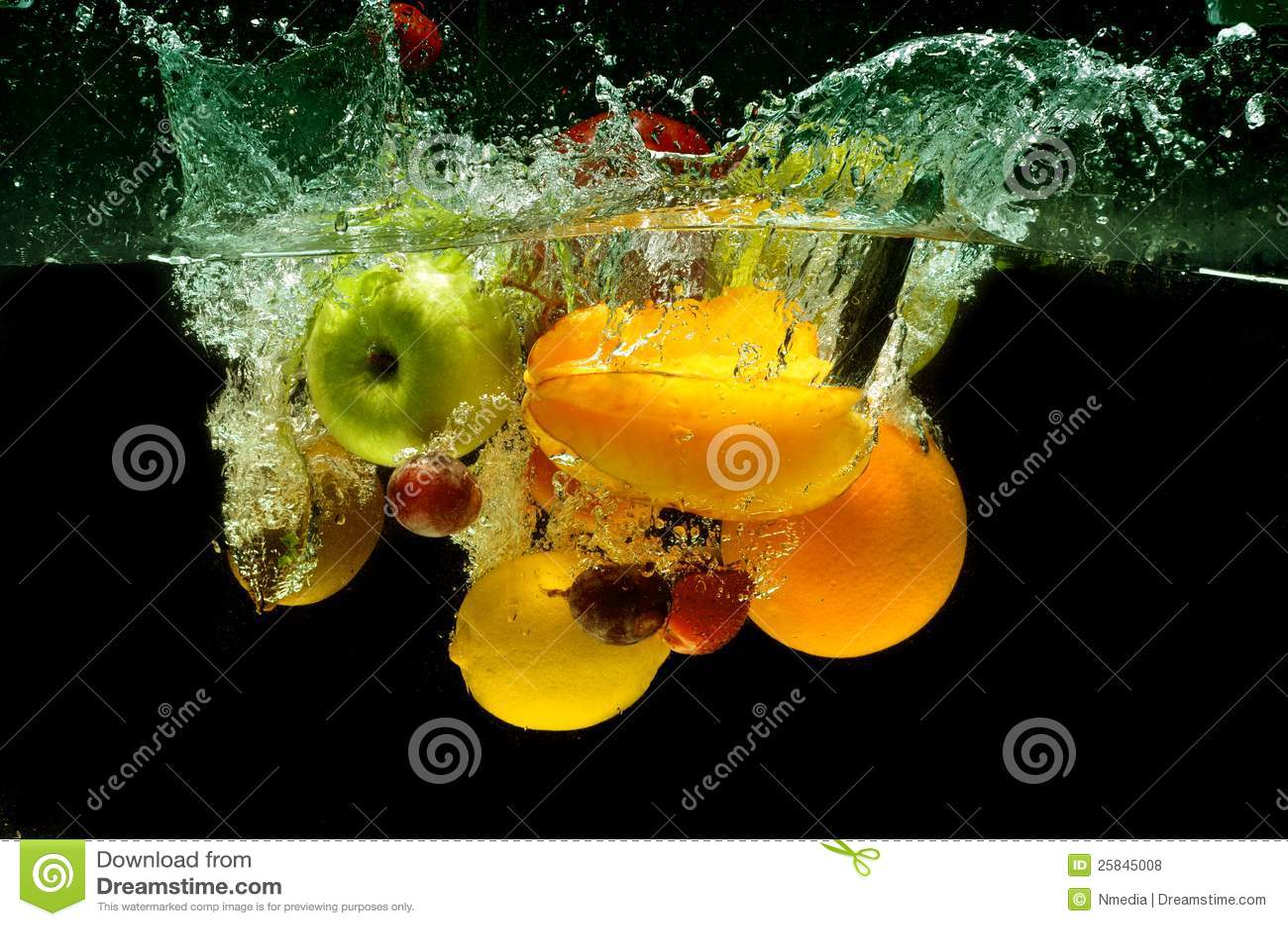 Plaska ny frukt och grönsaker