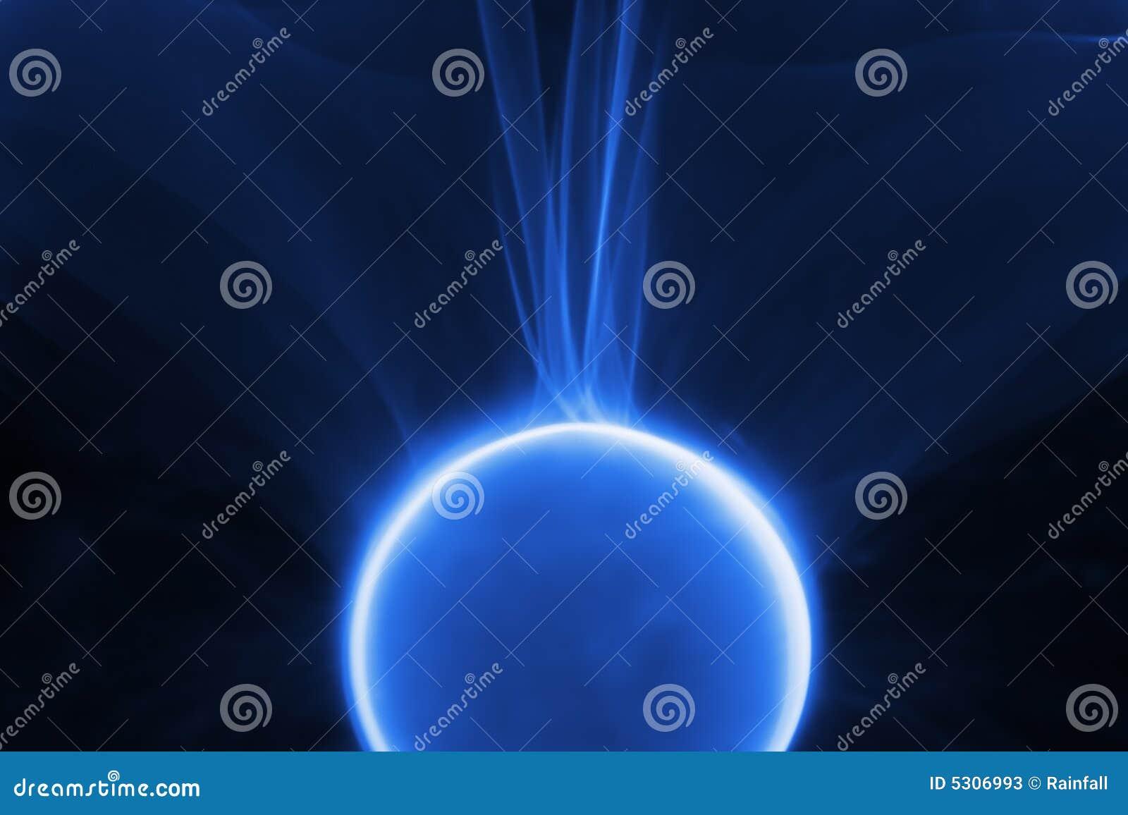 Download Plasma blu immagine stock. Immagine di straniero, fisica - 5306993