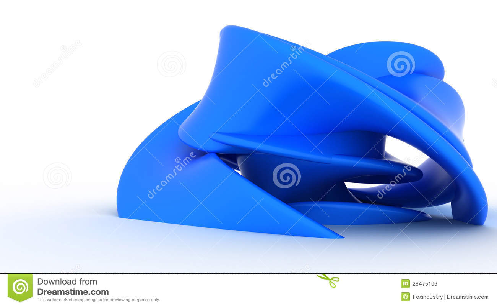 Plast- abstrakt blått bildar