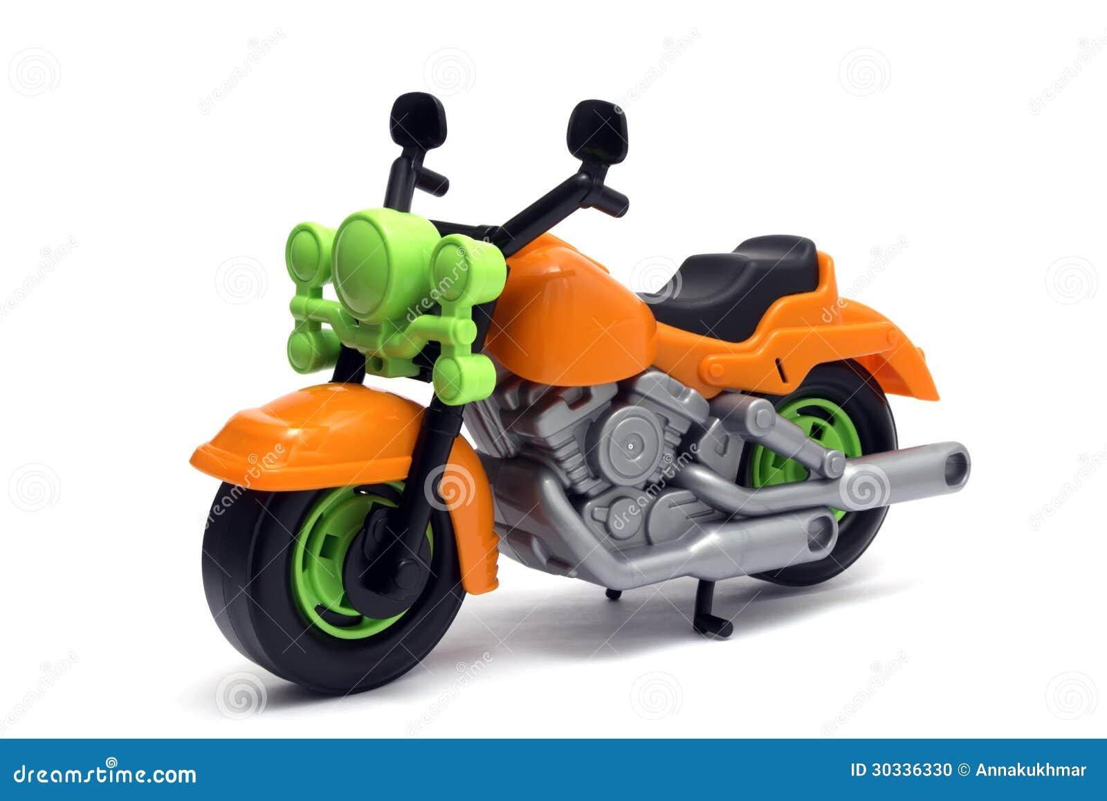 Plast- motorcykelleksak