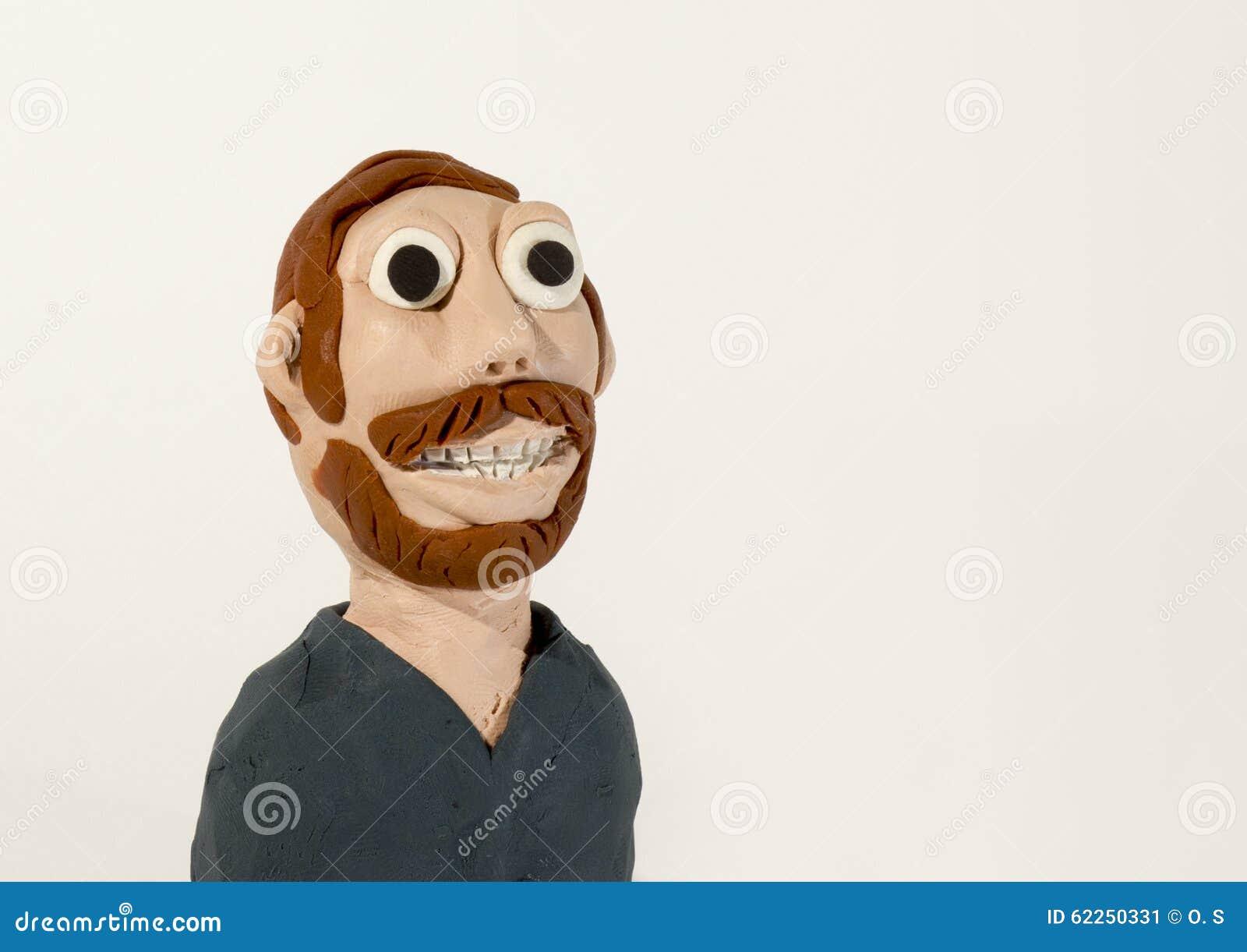 Plastelina charakter brody ludzi