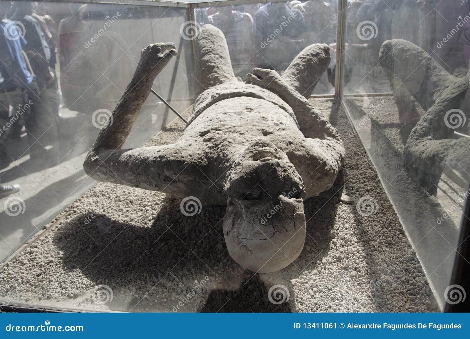 Plaster Cast Body in Pompeii