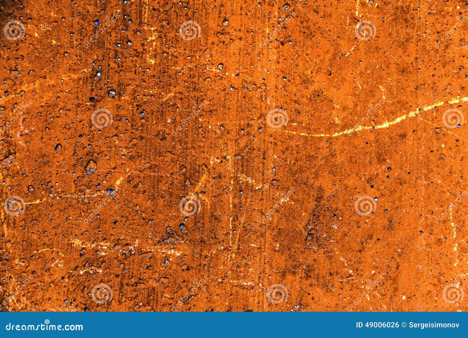 Orange Cement Wall : Plaster or cement texture orange color stock photo image