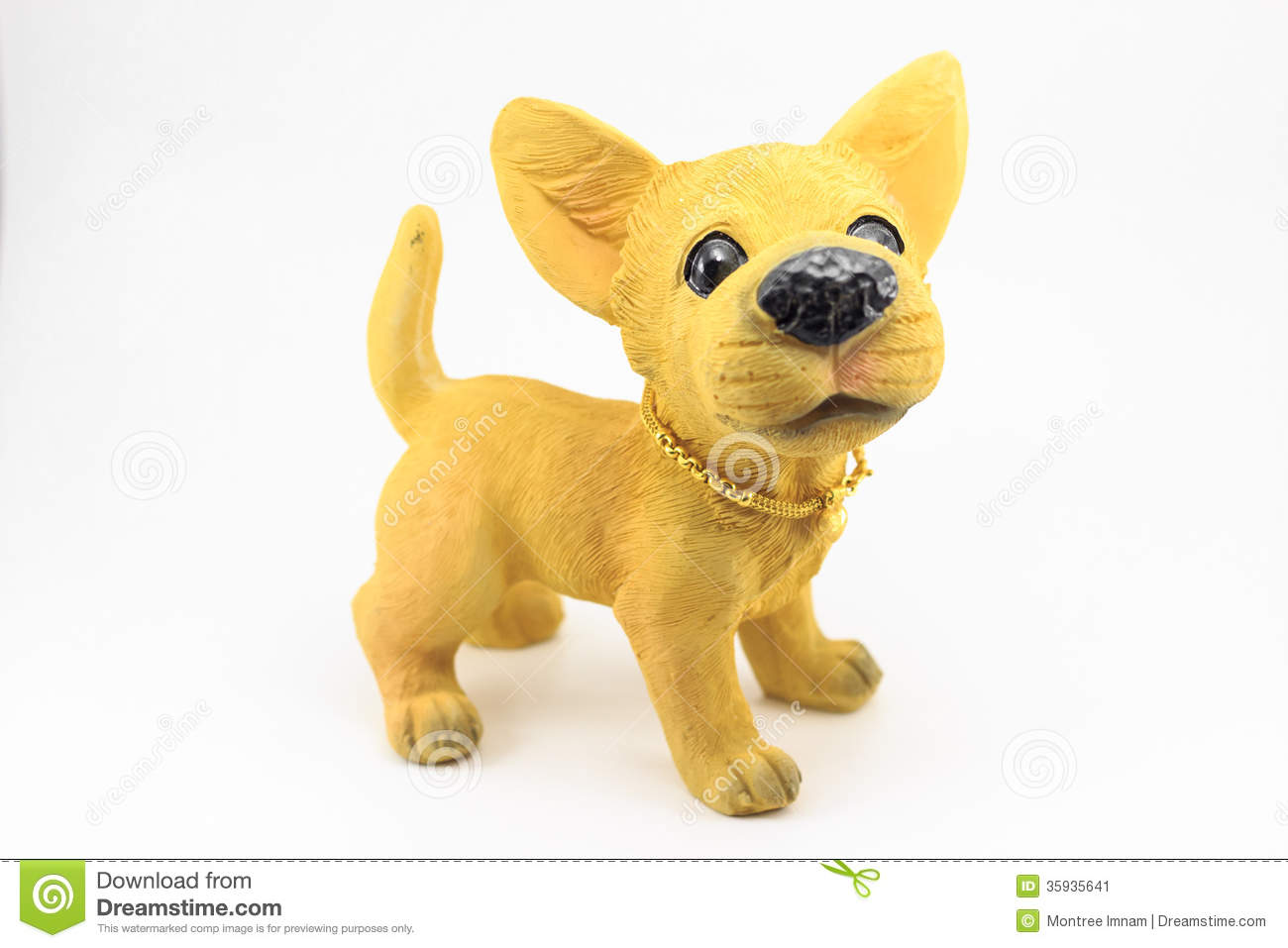Plaster Dog Stock Image - Image: 35935641