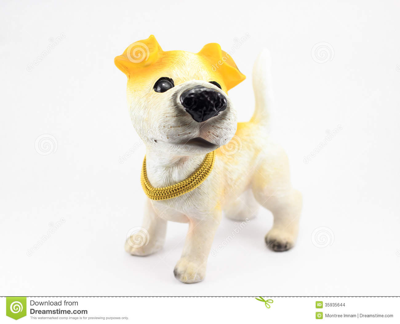 Plaster Dog Stock Images - Image: 35935644