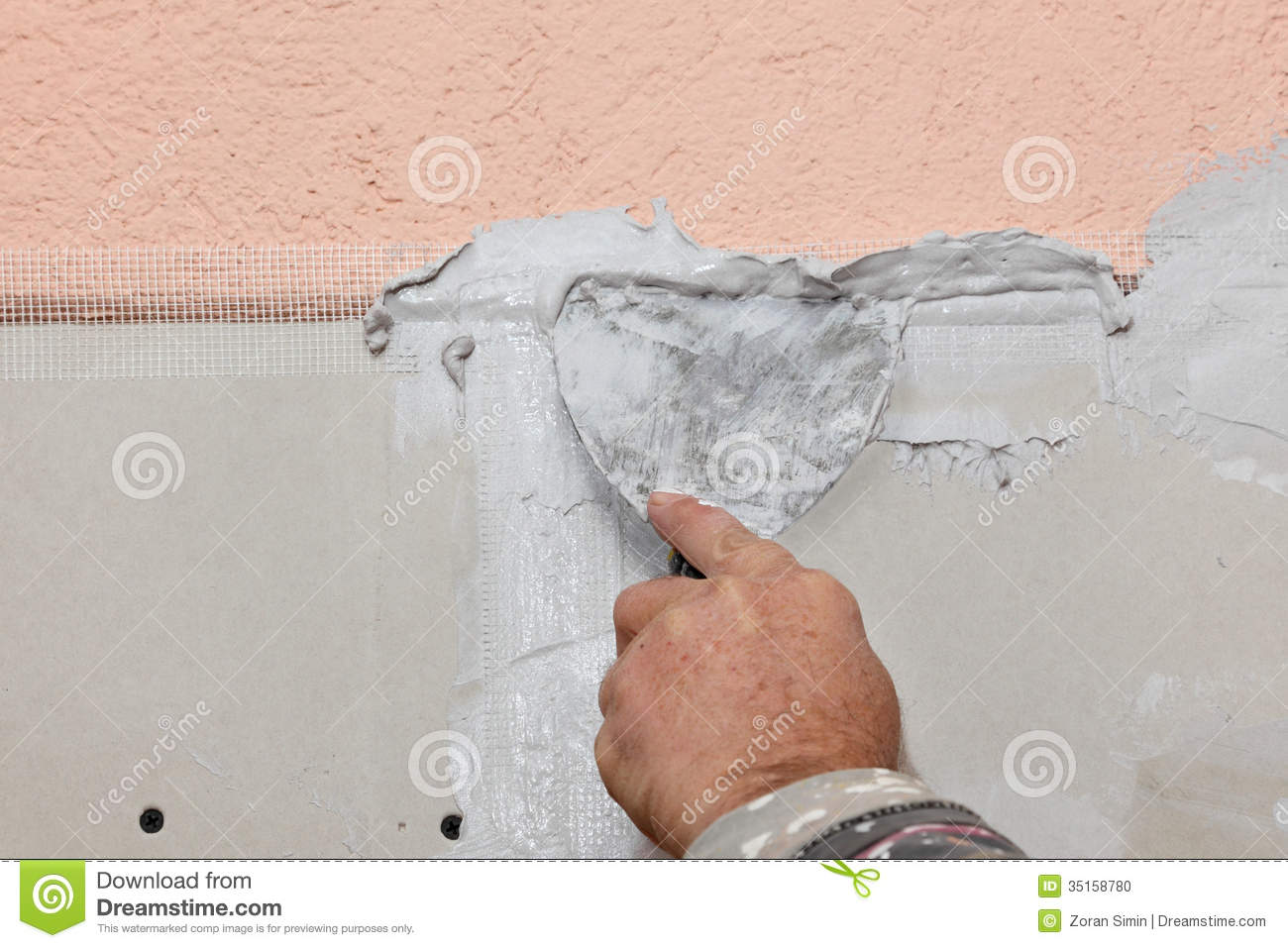 Plaster And Gypsum Board ~ Plaster and gypsum stock photo image