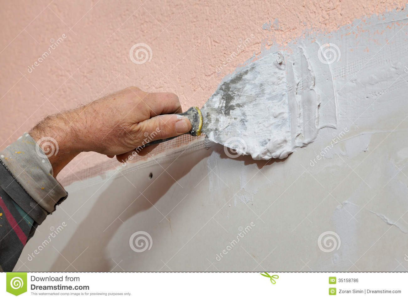 Plaster And Gypsum Board : Plaster and gypsum royalty free stock image