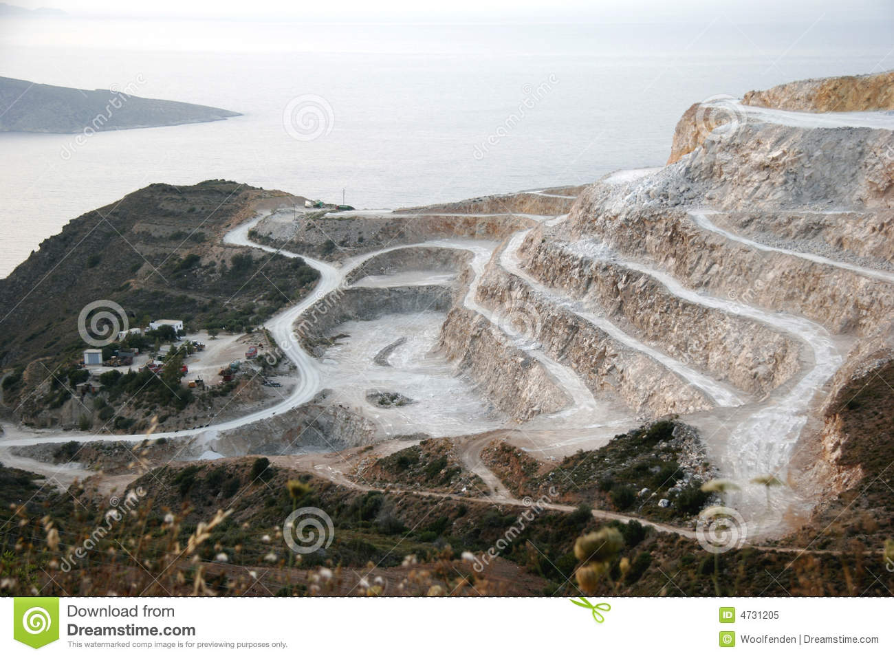 Plaster Of Paris Quarry In Northern Crete Royalty Free