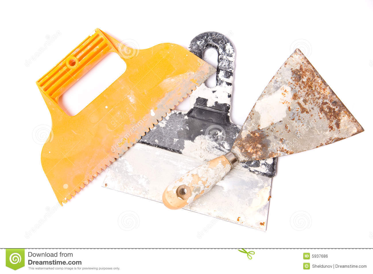 Plaster Tools Royalty Free Stock Image Image 5937686
