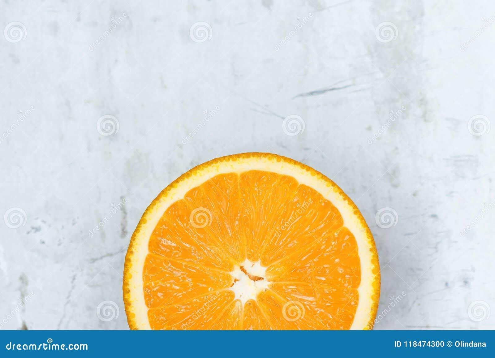 Plasterek Dojrzała Soczysta Wibrująca Żywa kolor pomarańcze na szarość kamienia betonu metalu tle Wysoka Rozdzielczość Karmowy pl