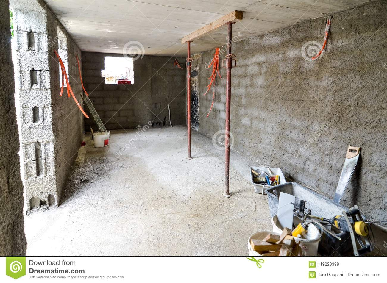 Plastering, rebuilding, waterproofing basement or a cellar and w