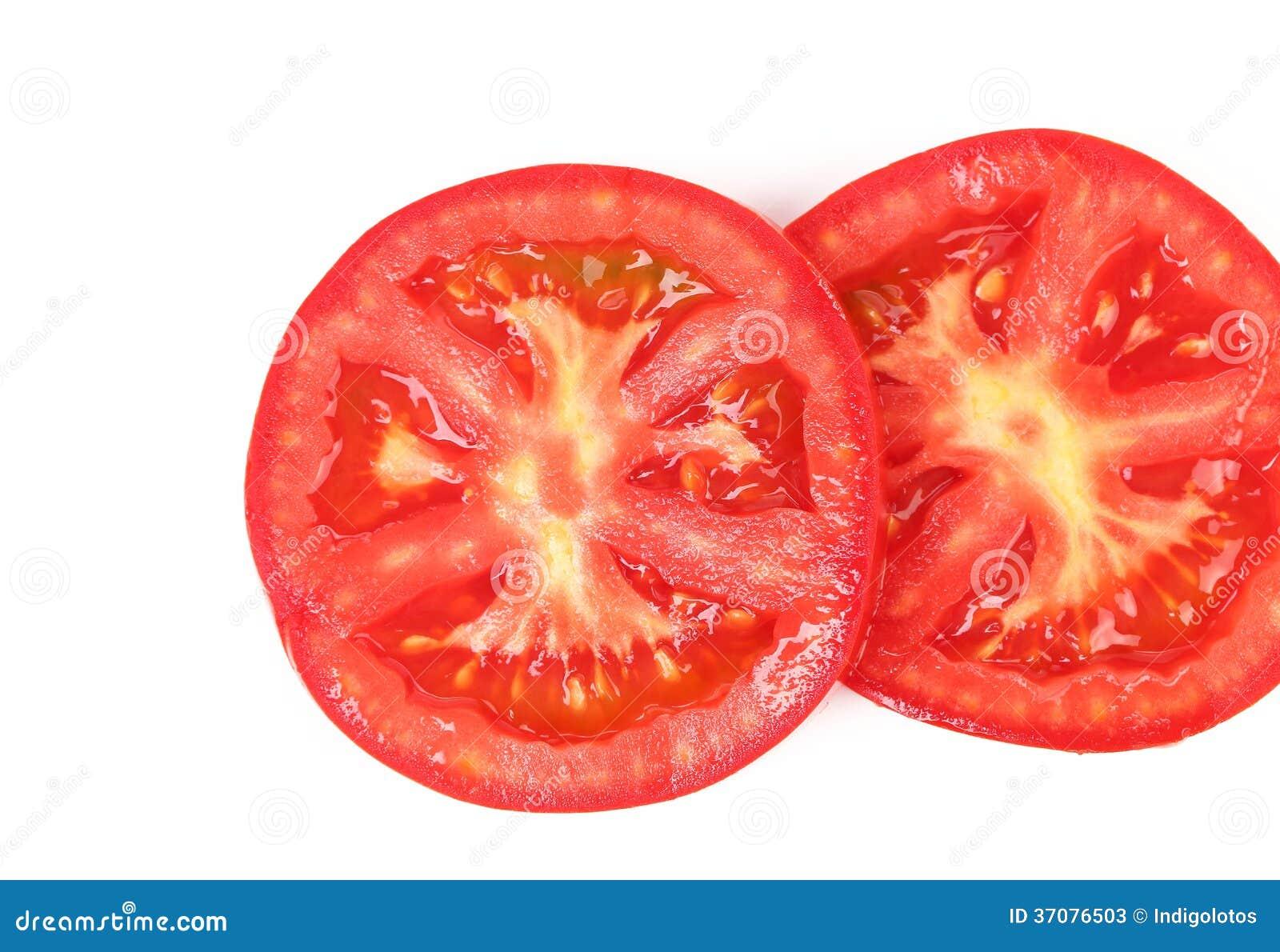 Download Plasterki pomidor. obraz stock. Obraz złożonej z macro - 37076503