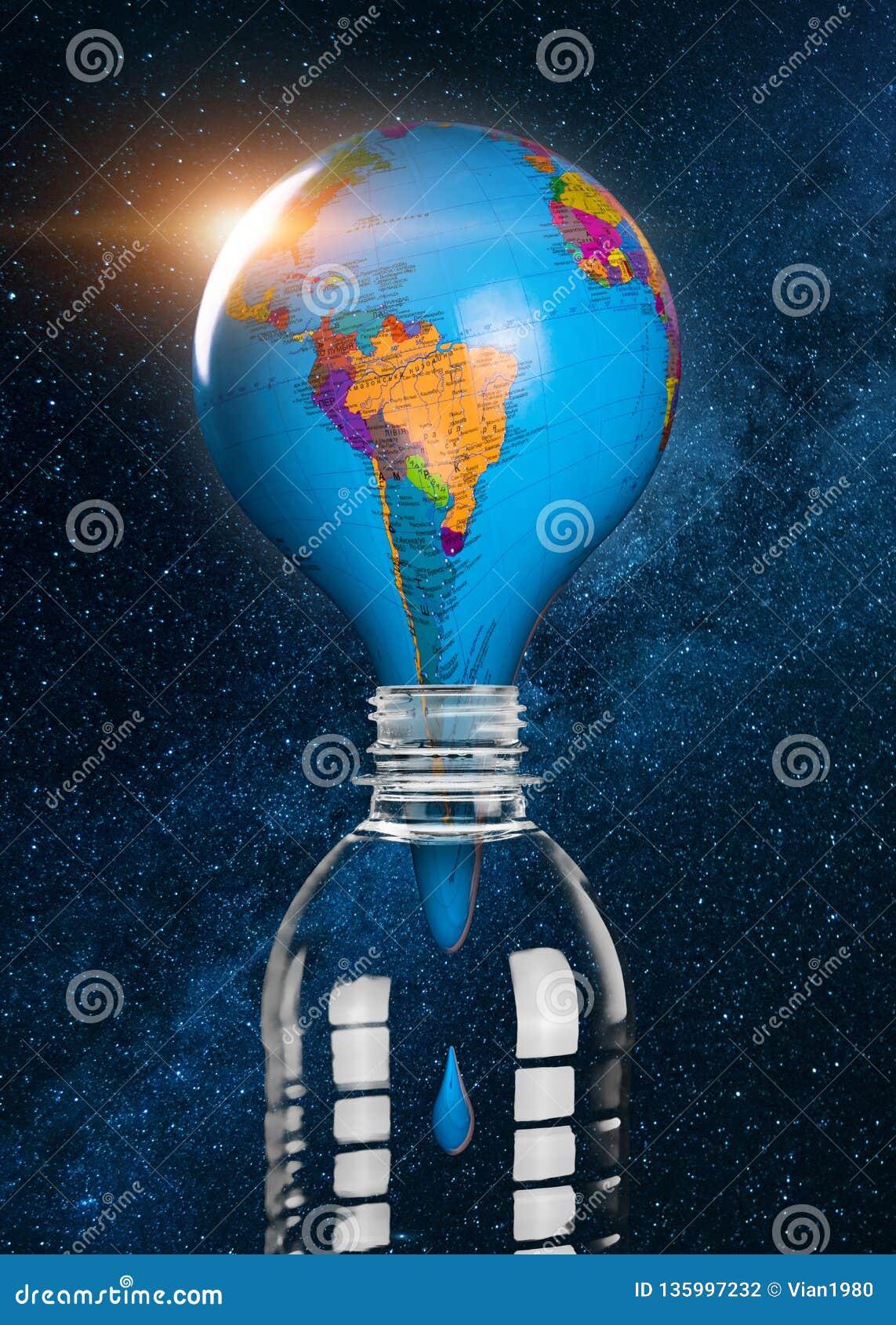 Plastic afval en huisvuil die de Aarde overstromen