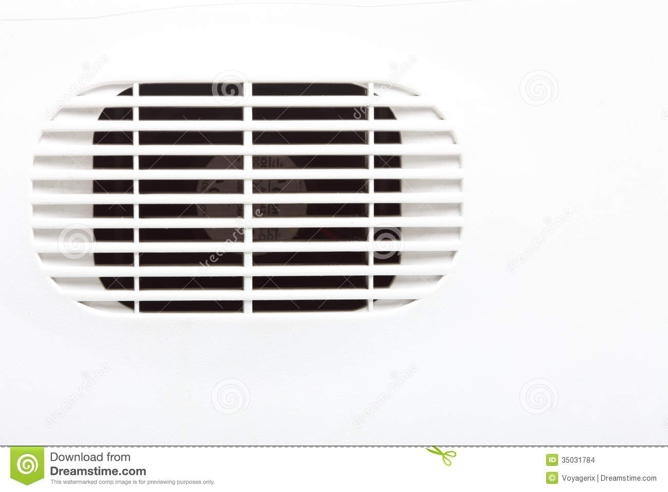 Air Ventilator Wall : Plastic air vent in white wall ventilation grille stock