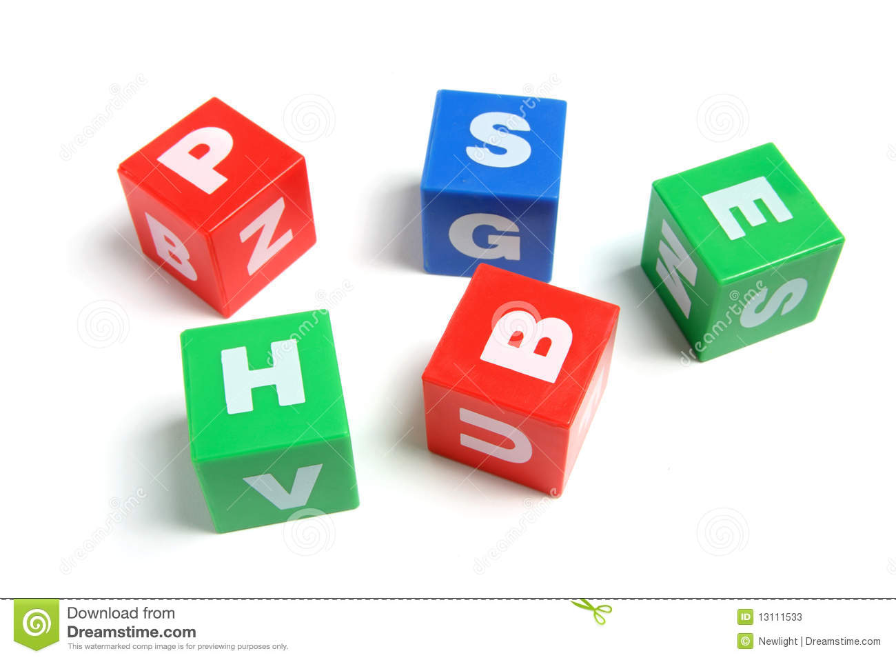 Plastic Alphabet Cubes Stock Photos - Image: 13111533
