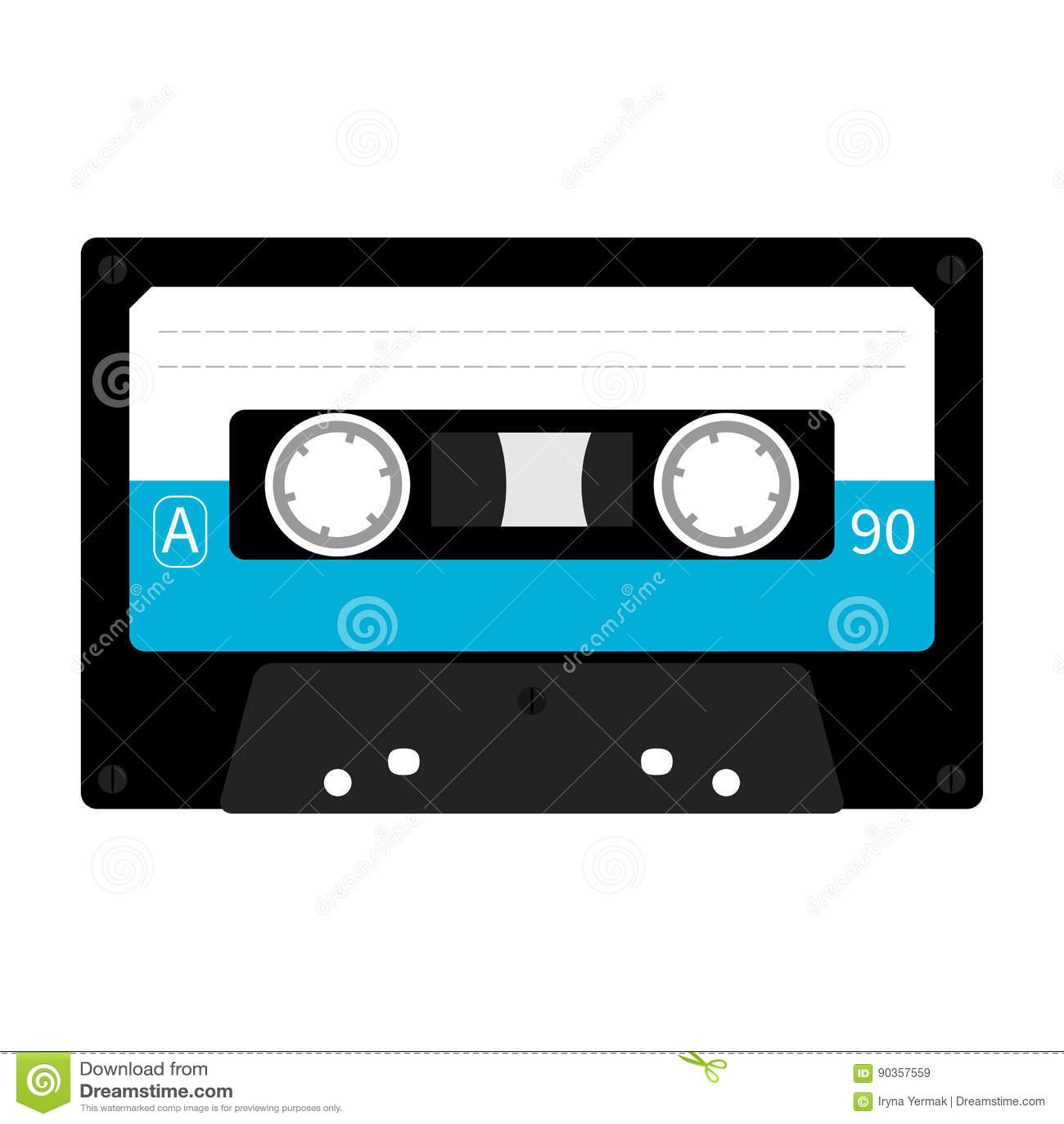 retro cassette tape music record icon illustration vector. Black Bedroom Furniture Sets. Home Design Ideas