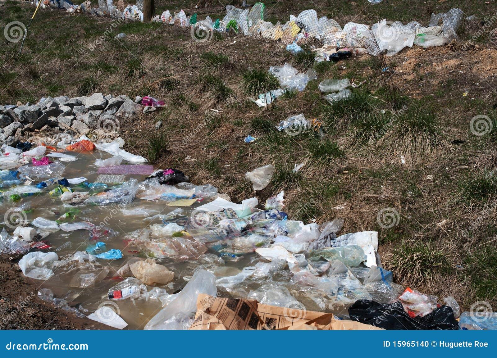Plastic bag pollution stock photo. Image of damage, refuse ...