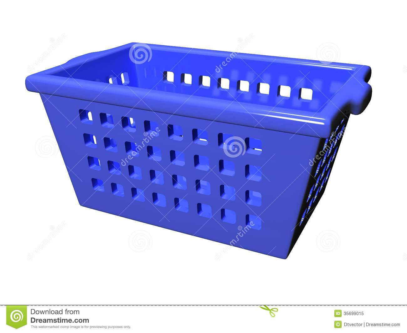 Plastic Basket_Raster Royalty Free Stock Photo - Image: 35699015