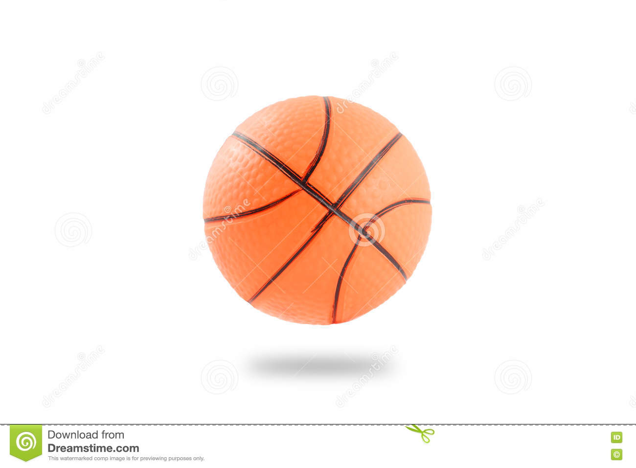 Small Toy Basketball : Plastic ball falling on the floor toy etc stock photo