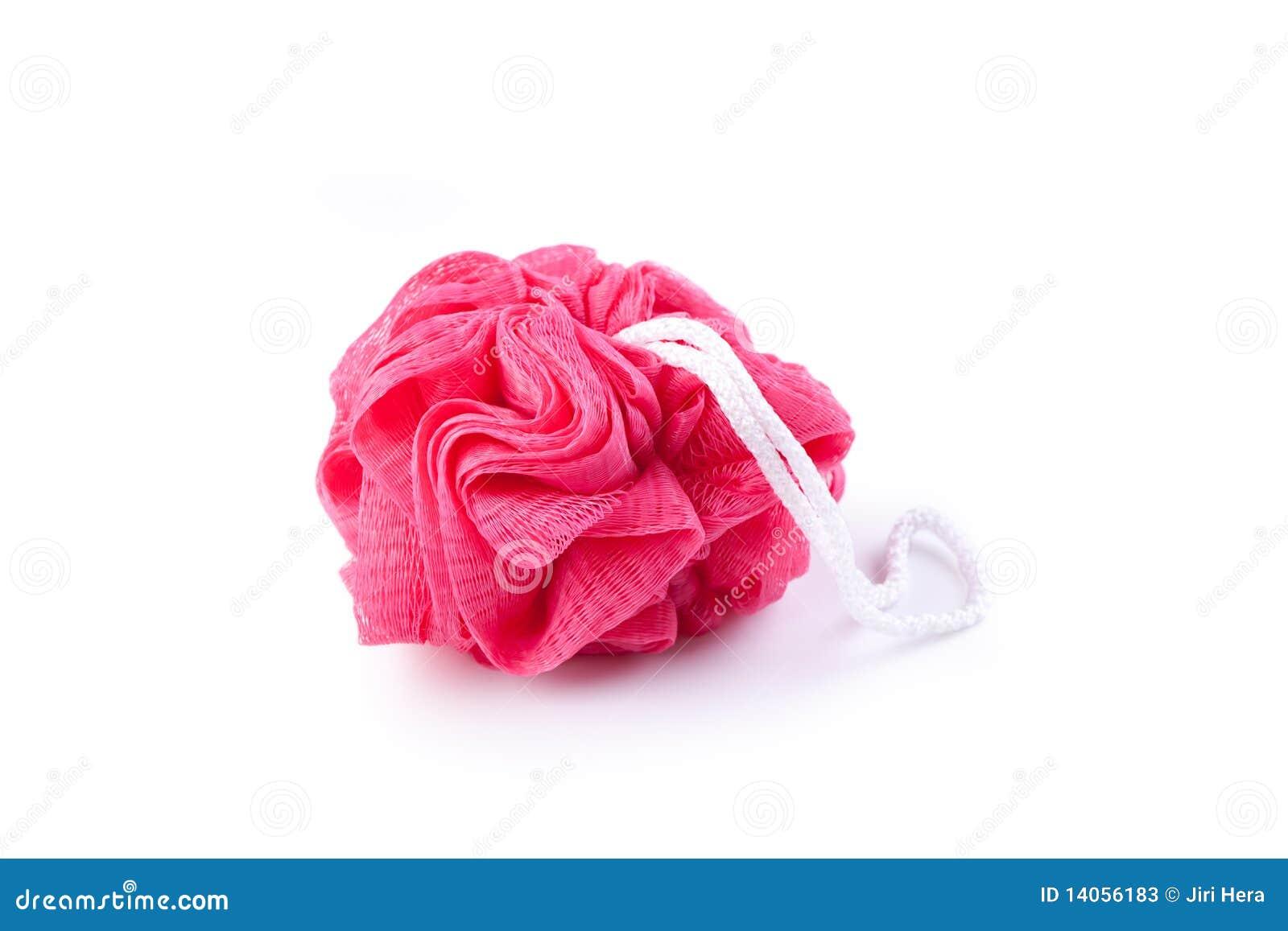 Plastic bath sponge