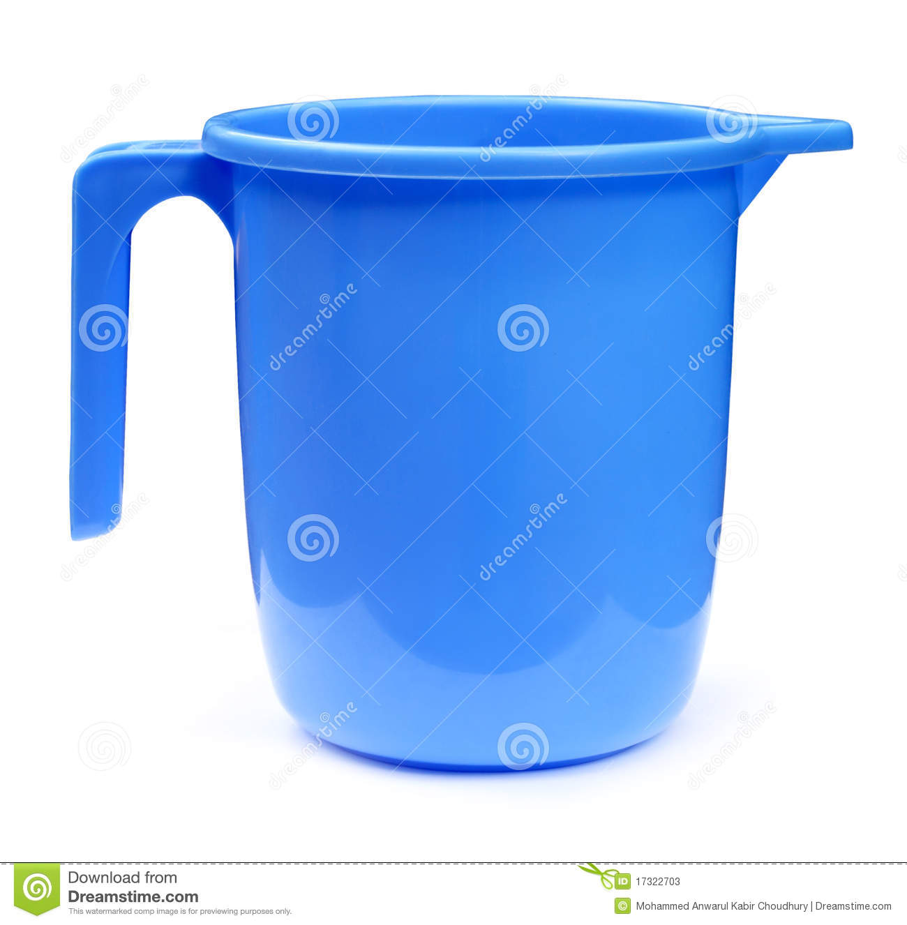 Plastic bathroom mug isolated over white background.