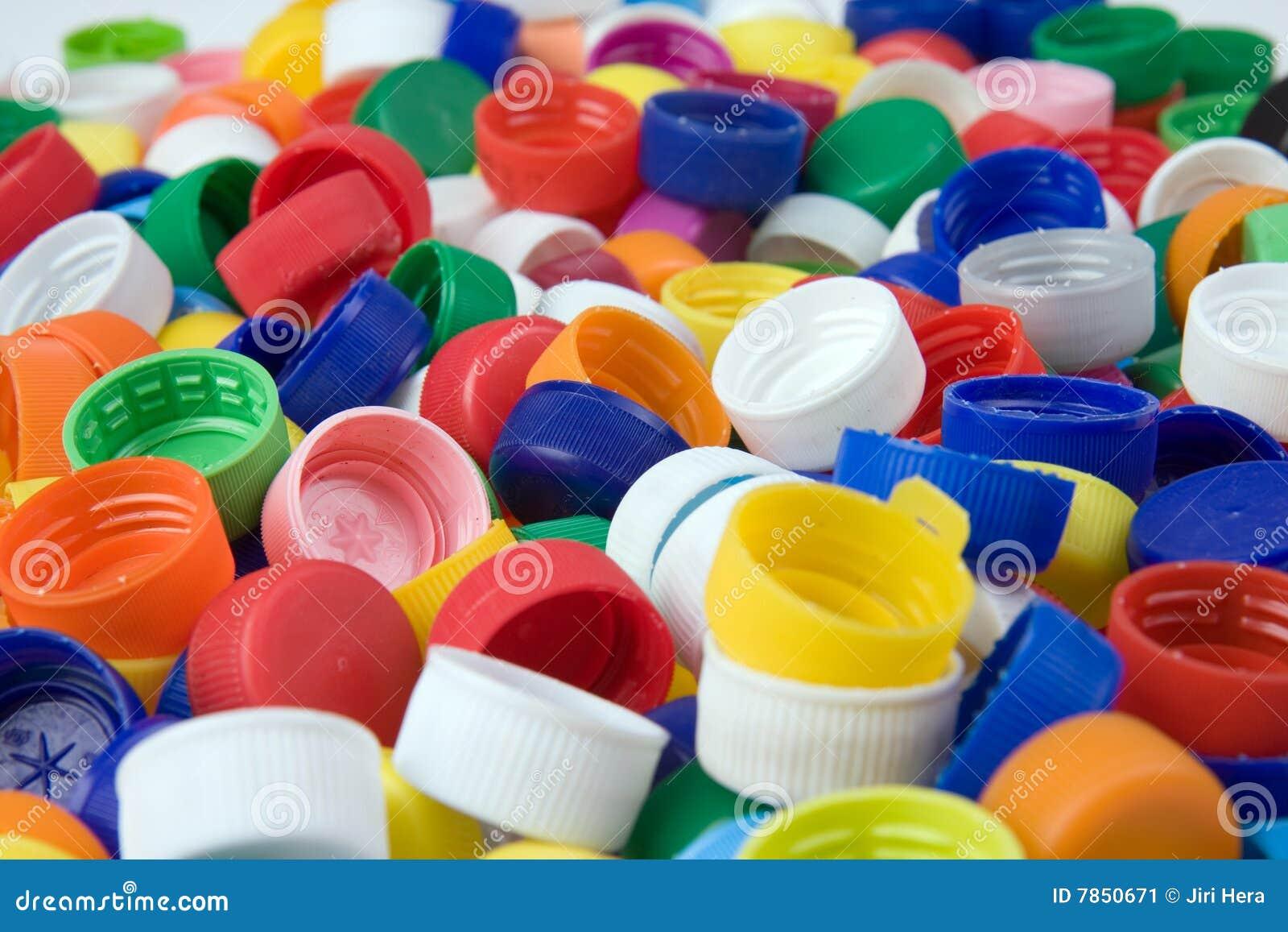 Plastic bottle caps stock image image 7850671 - Plastic bottles with caps ...
