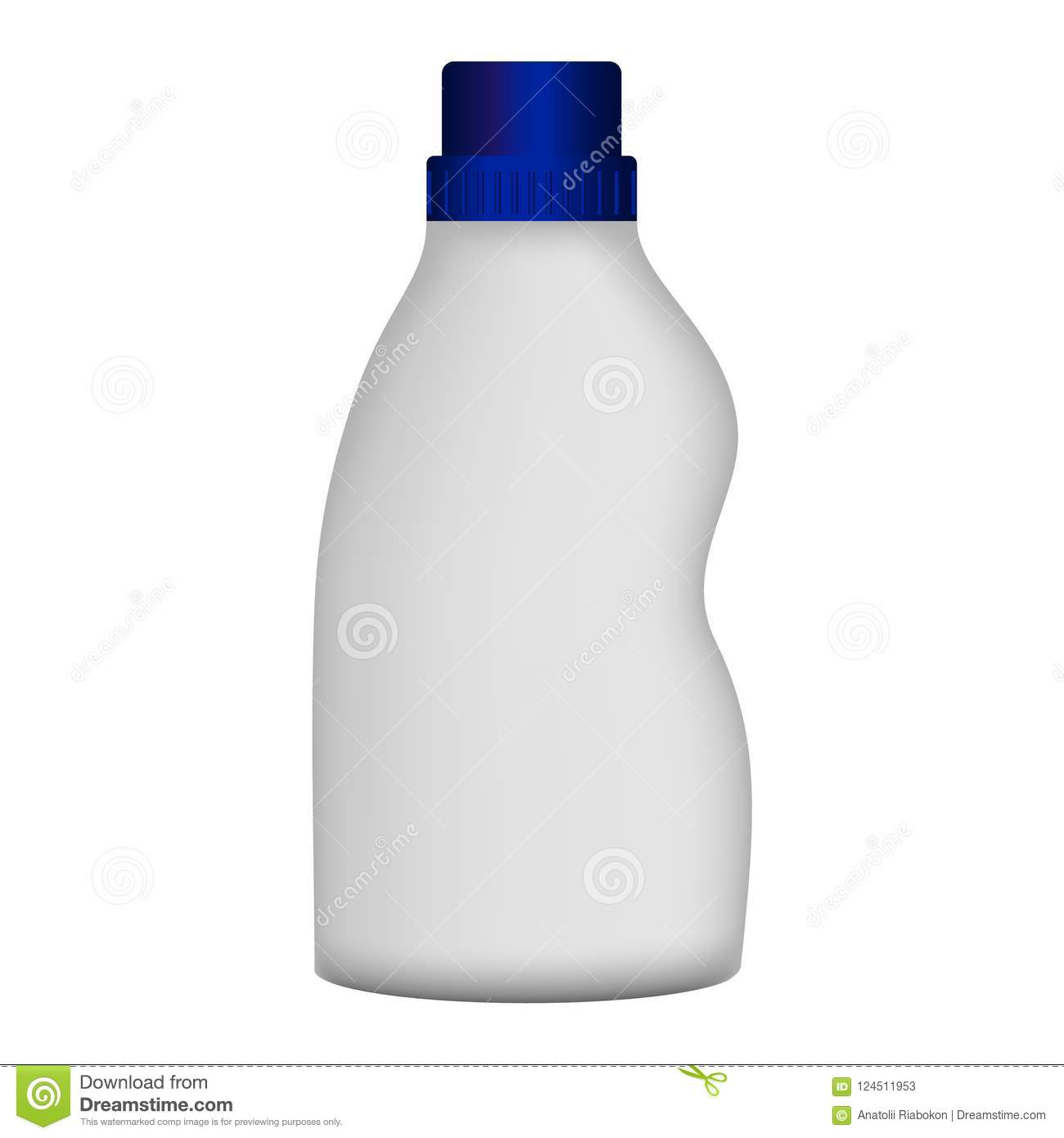 Plastic bottle cleaner mockup, realistic style