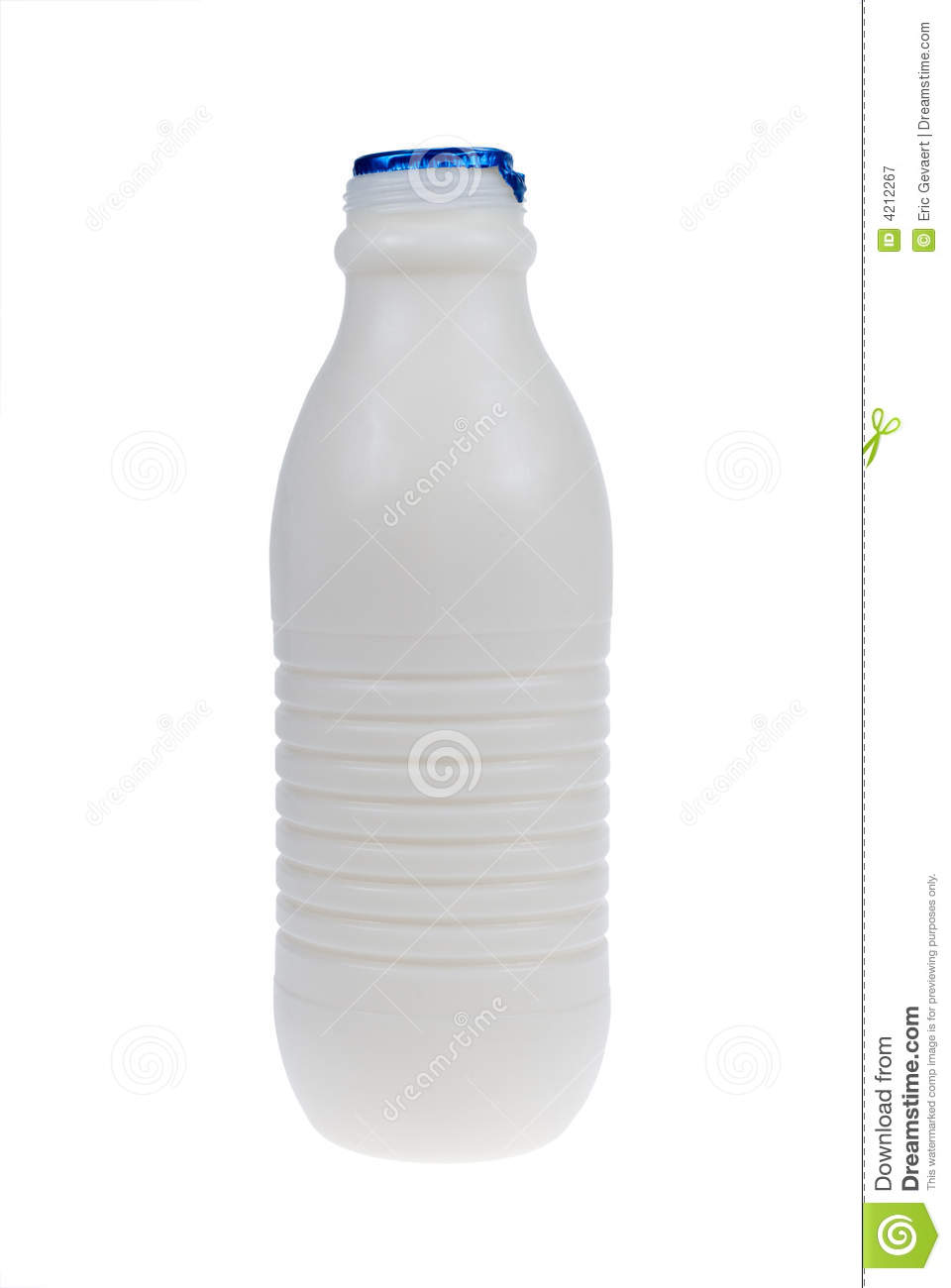 Plastic Bottle Of Milk Royalty Free Stock Photography - Image: 4212267