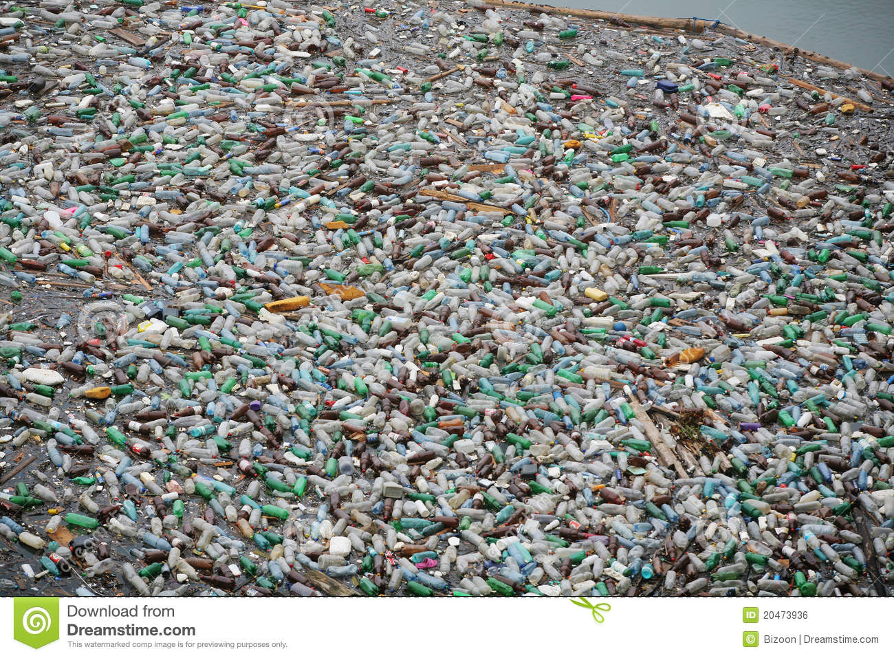 Plastic bottle pollution editorial photo. Image of ...