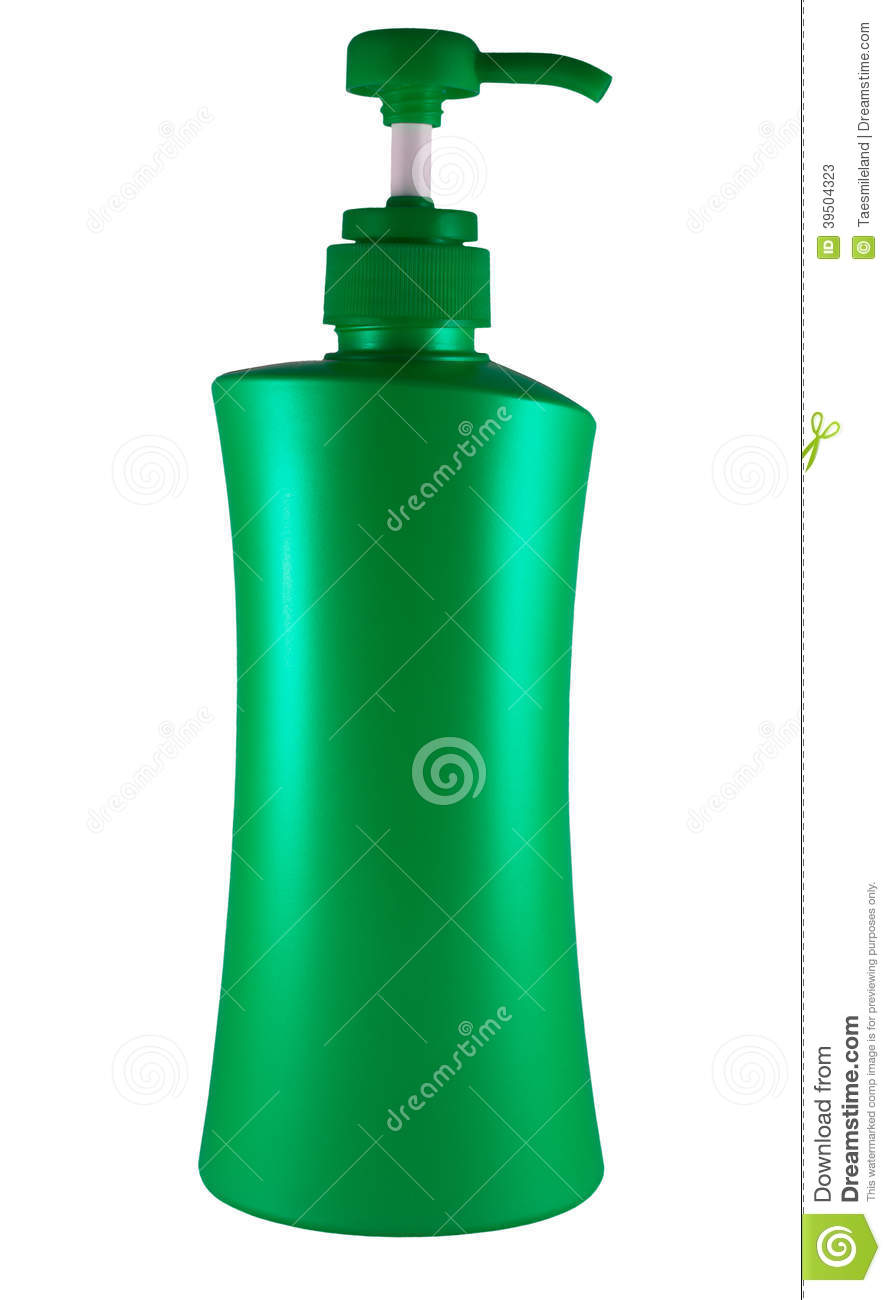 Plastic bottle of skin care product