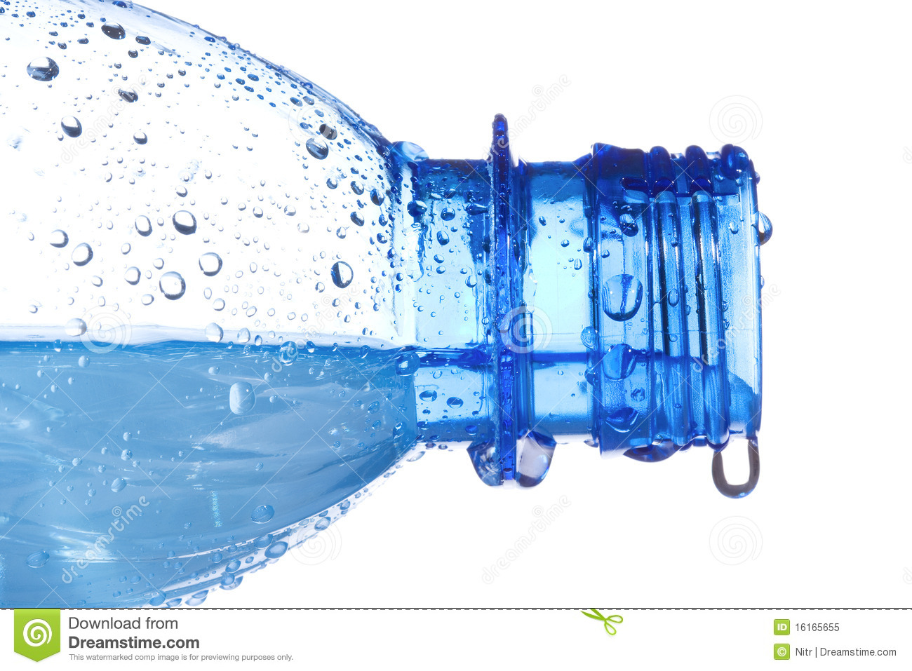 Plastic Bottle With Water Drops Royalty Free Stock Photo