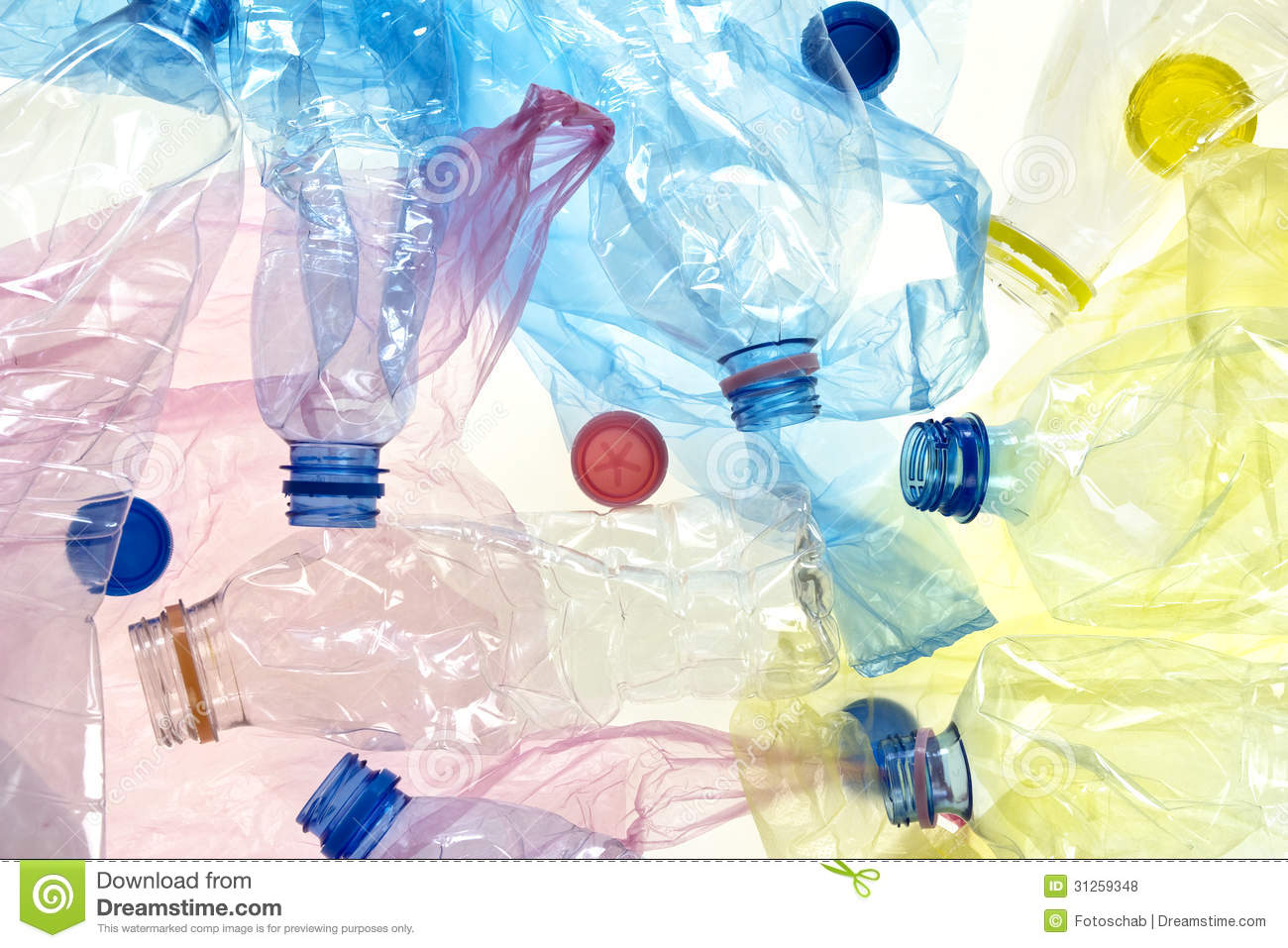 Plastic Bottles And Bags Royalty Free Stock Photos - Image: 31259348