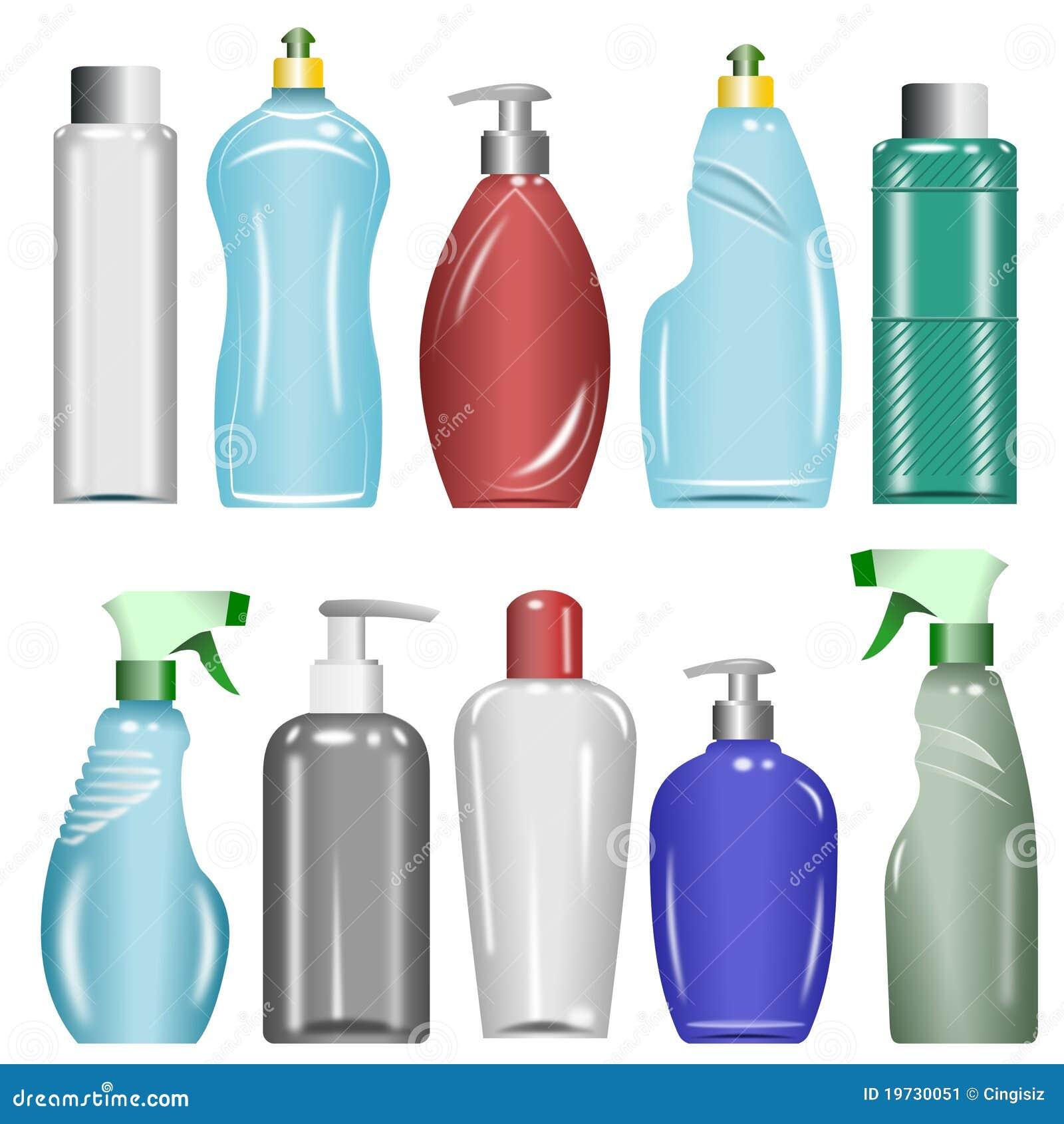 Plastic Bottles Set 6 Stock Image