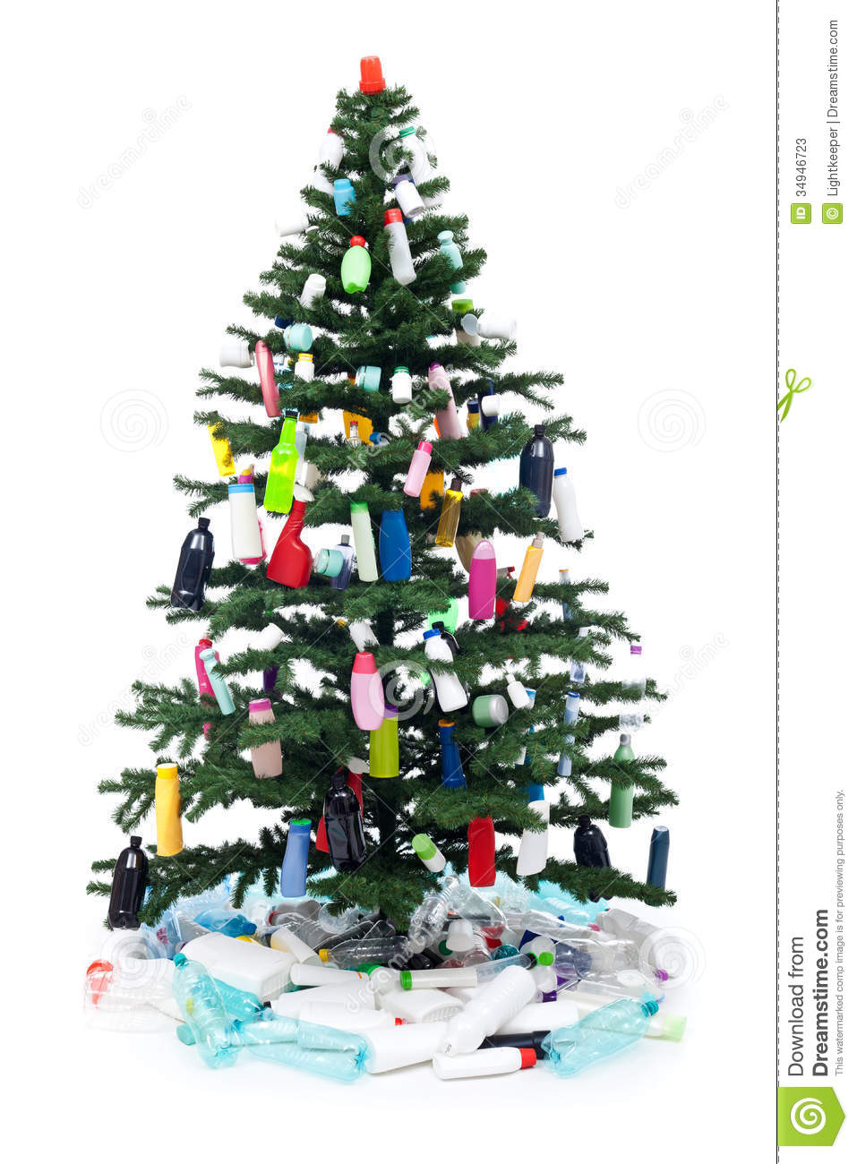 how to make a christmas tree with plastic bottles
