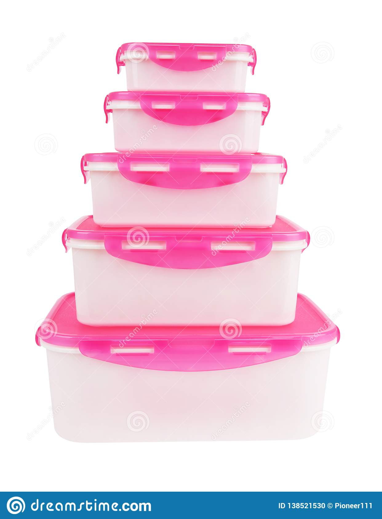 Plastic boxes isolated
