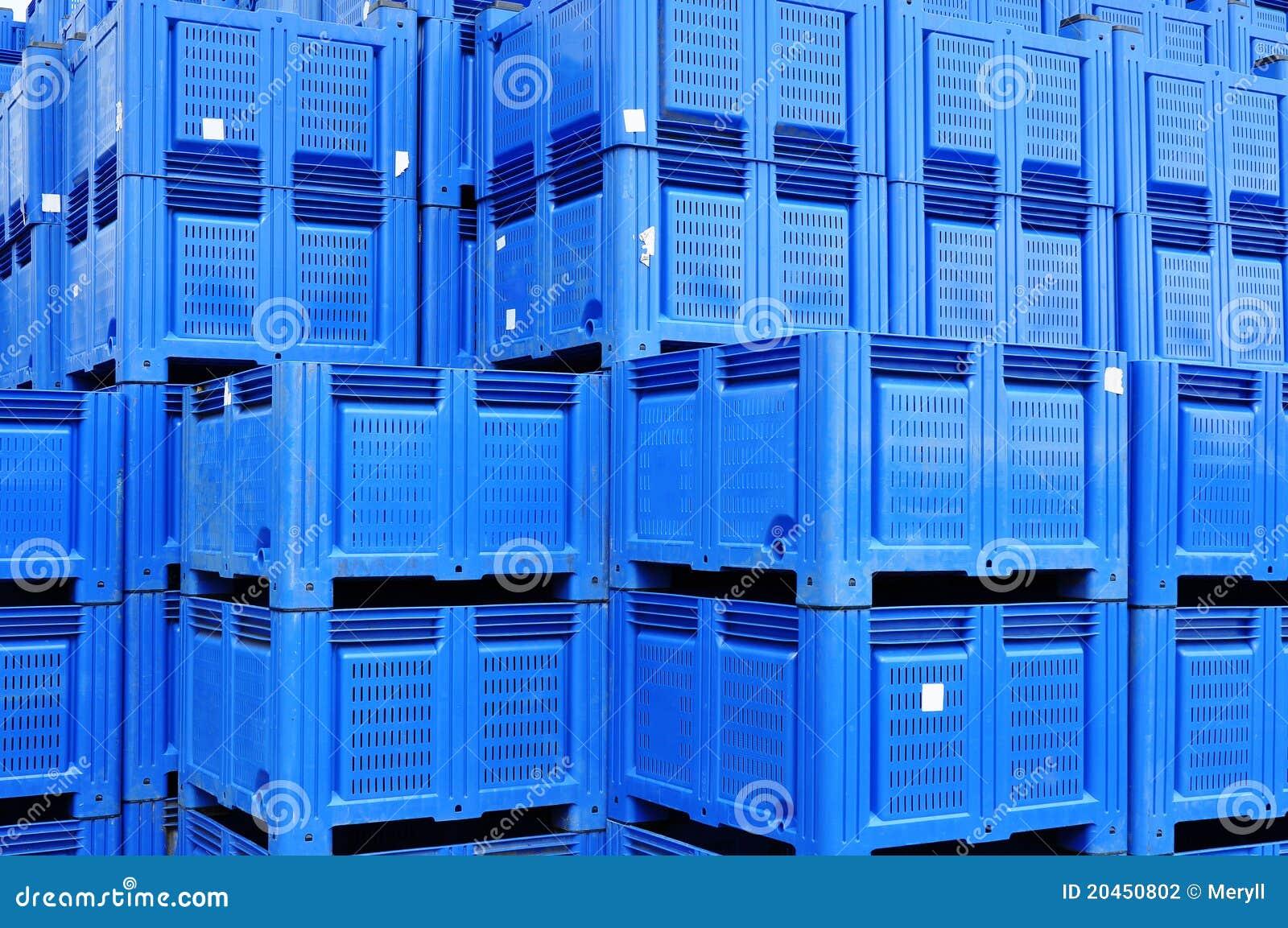Plastic boxes storage