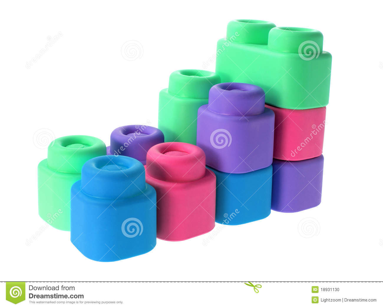 Plastic building blocks stock photo image 18931130 for Plastic building blocks home construction