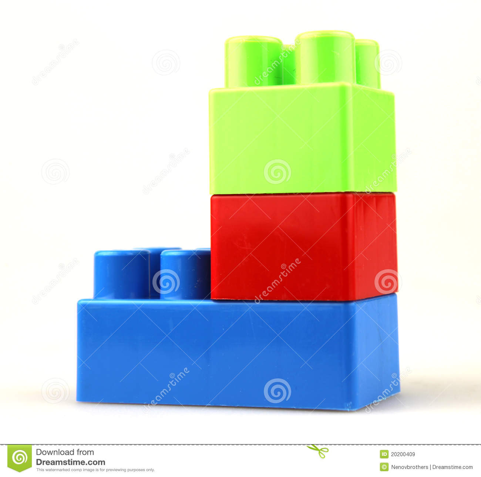 Plastic Building Blocks Royalty Free Stock Images Image