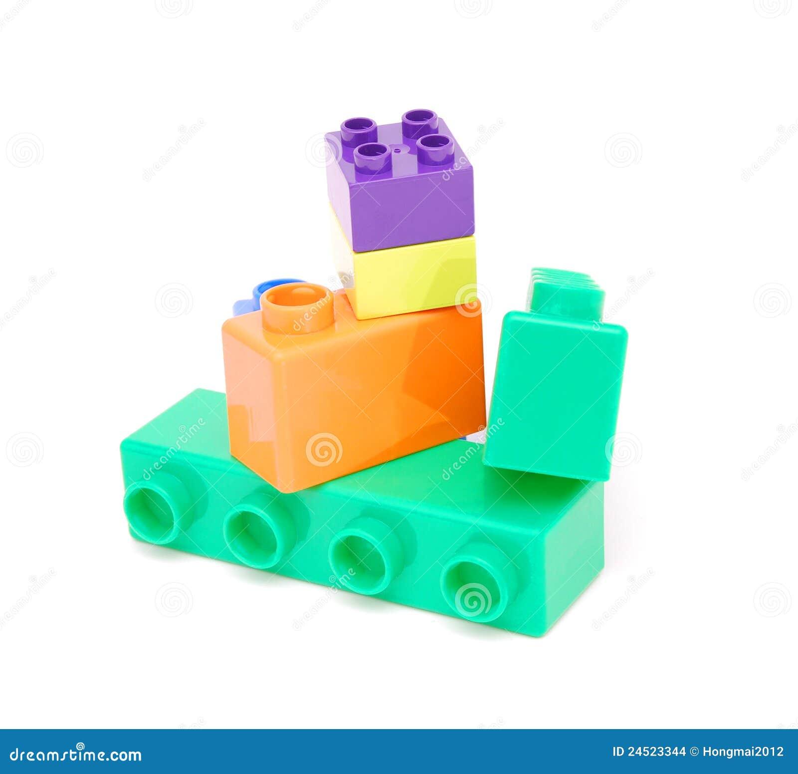 Plastic Building Blocks Stock Images Image 24523344