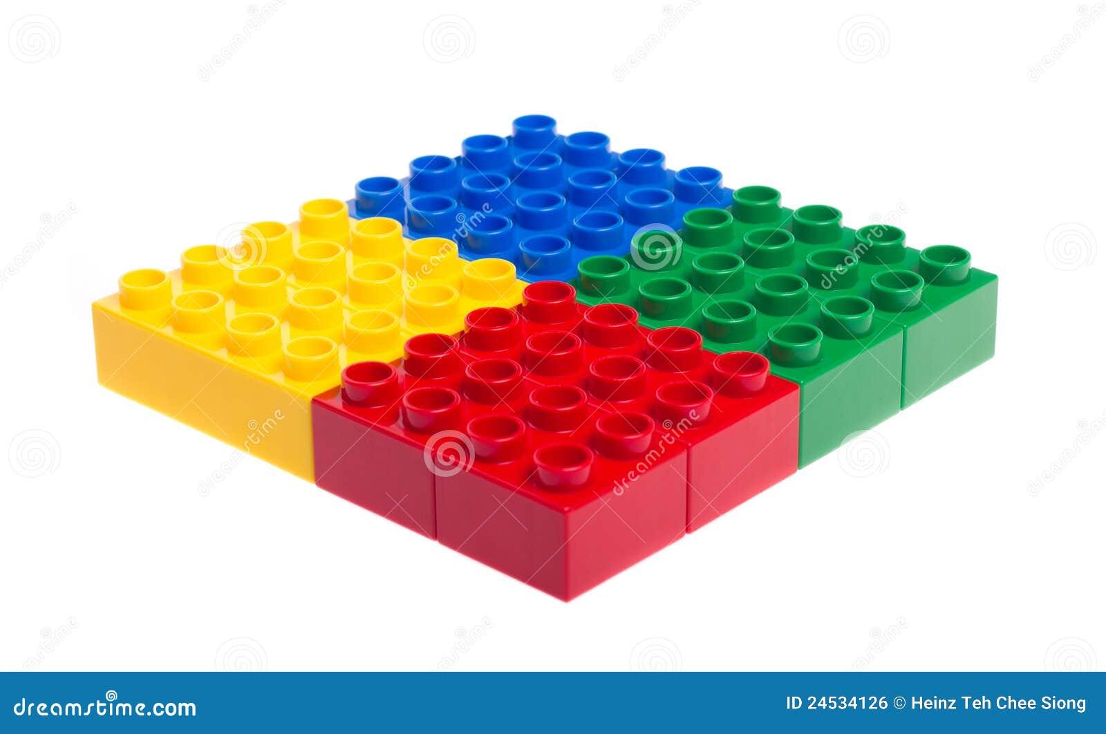 Plastic Building Blocks Royalty Free Stock Image Image