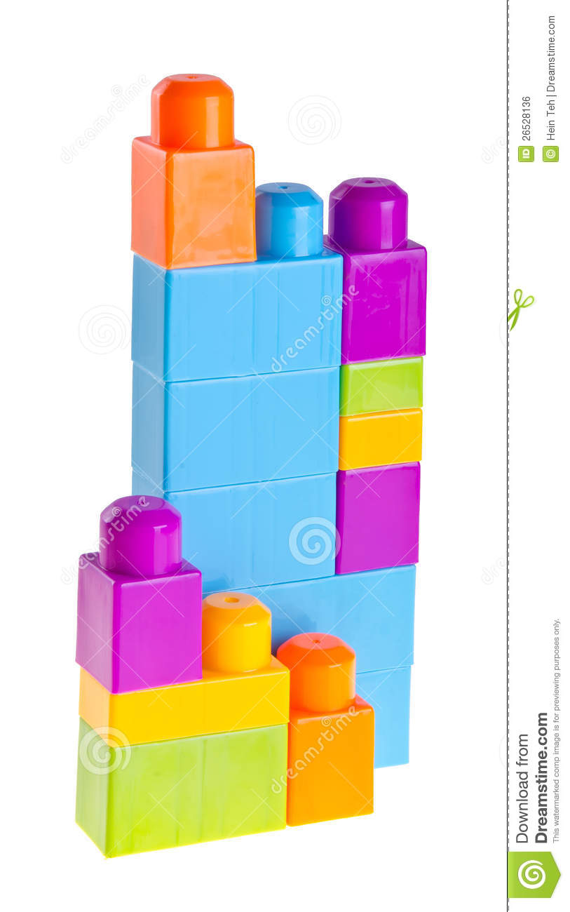 Plastic building blocks on background royalty free stock for Plastic building blocks home construction