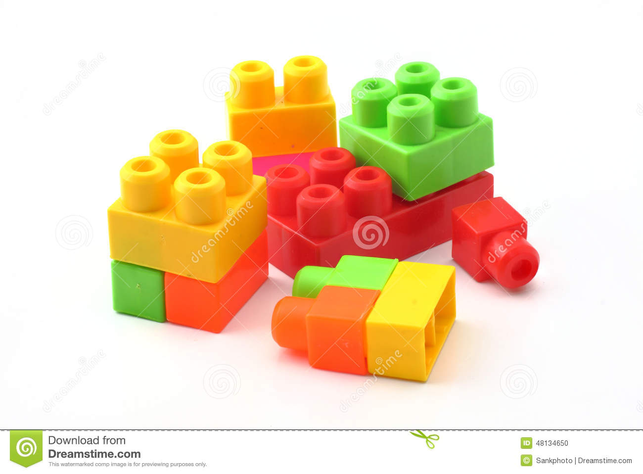 Plastic building blocks stock photo image 48134650 for Plastic building blocks home construction