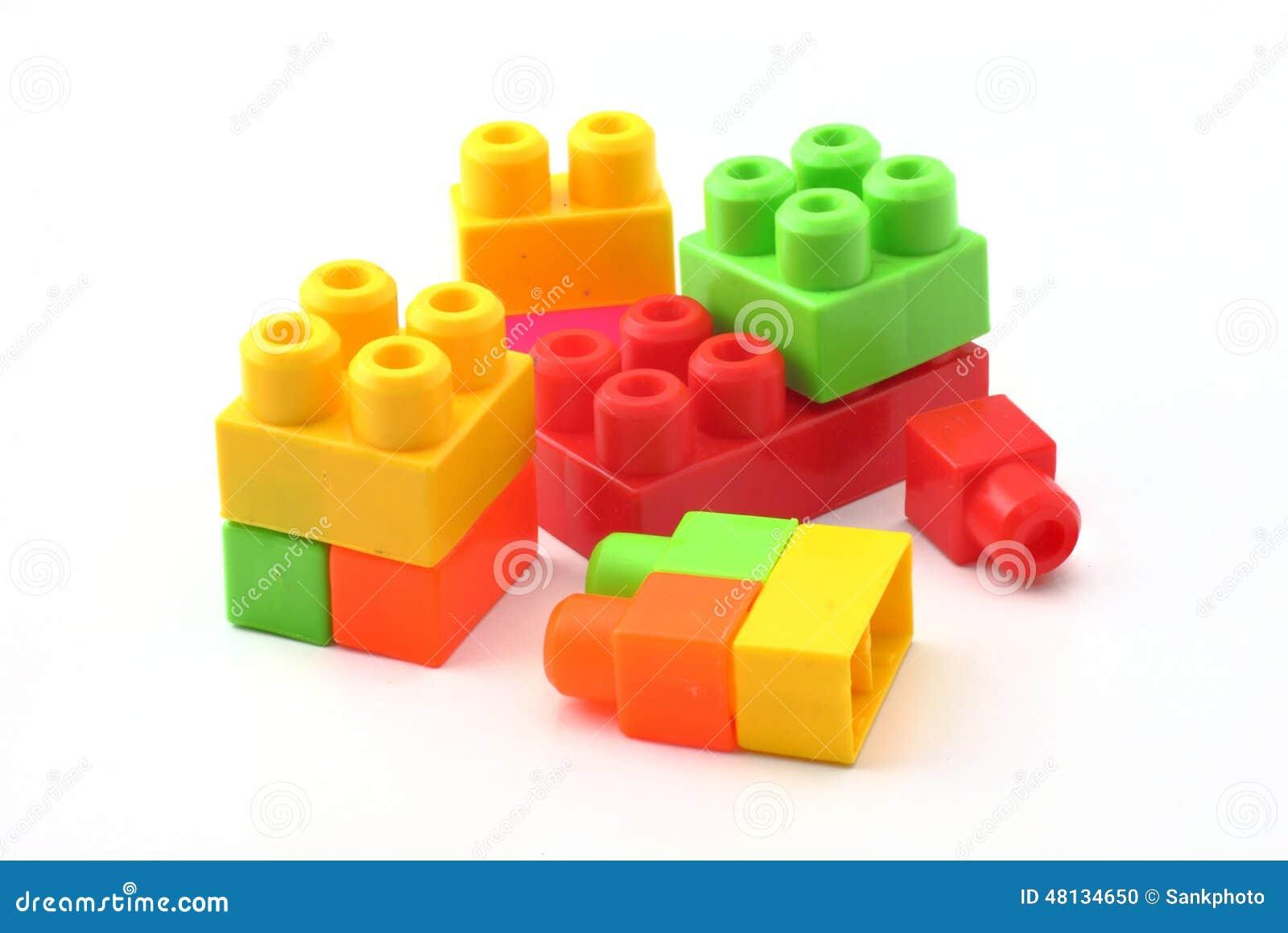 Plastic Building Blocks Stock Photo Image 48134650
