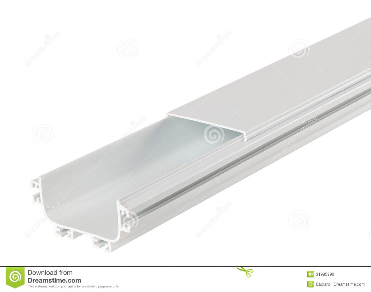 plastic cable conduit or tray stock photo image of white detailed rh dreamstime com Electrical Wiring plastic cable conduit