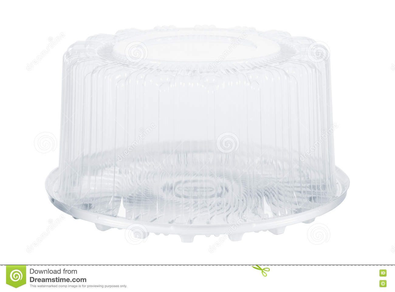 Plastic Cake Storage Container isolated on white  sc 1 st  Dreamstime.com & Plastic Cake Storage Container Isolated On White Stock Photo - Image ...