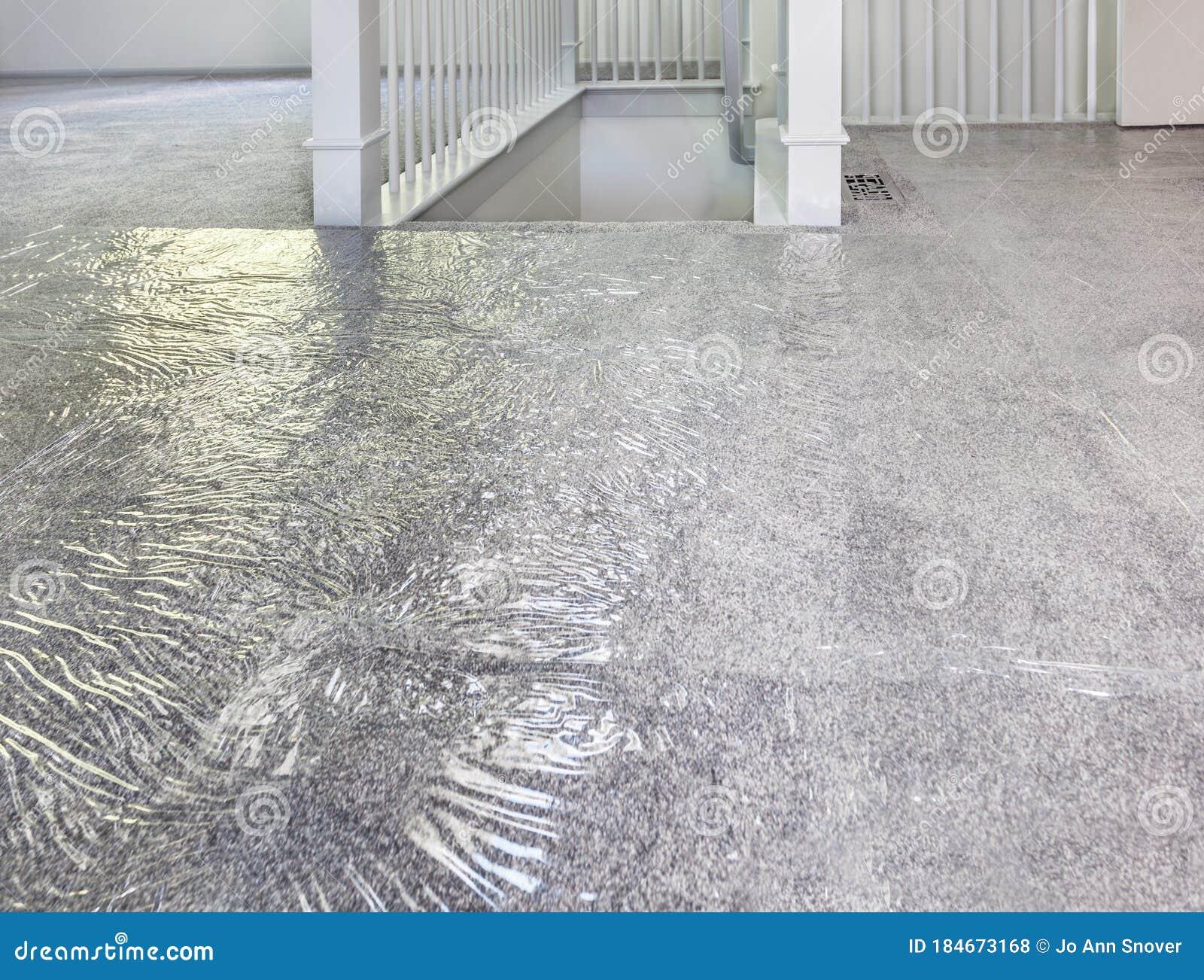 Plastic Carpet Protection Over Carpet Stock Photo Image Of Pristine Tarp 184673168