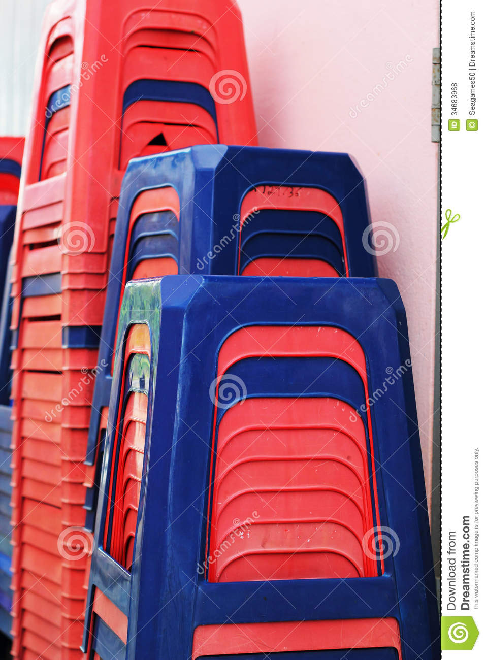 Plastic Chairs Stackable Set Rams Stock Photo Image